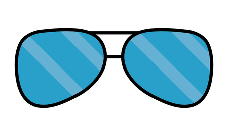 sunglasses accessory element icon vector illustration design Illustration