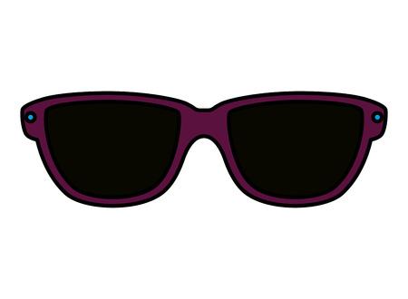 Lunettes de soleil d'été icône accessoire conception d'illustration vectorielle Vecteurs