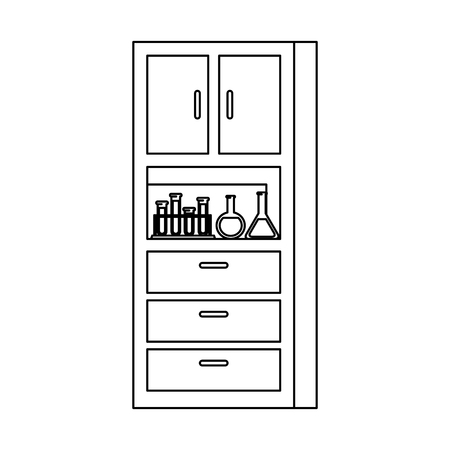 laboratory shelving isolated icon vector illustration design Banque d'images - 122461869