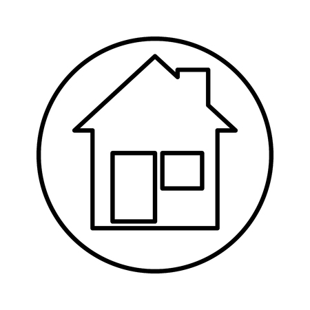 house facade isolated icon vector illustration design