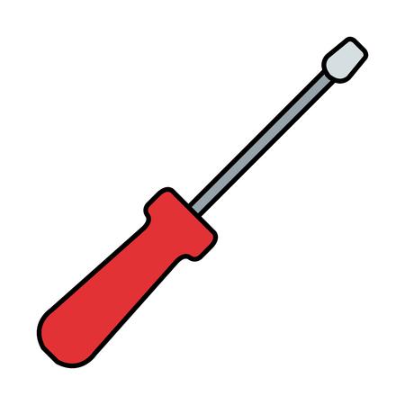 screwdriver tool isolated icon vector illustration design 写真素材 - 122507543