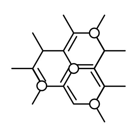 Molekülstruktur Wissenschaft Symbol Vektor Illustration Design vector Vektorgrafik