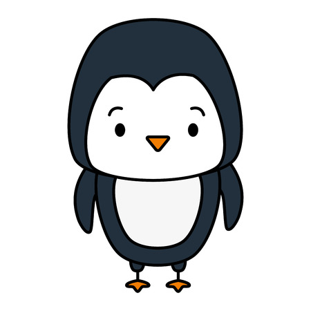 cute penguin animal cartoon vector illustration design
