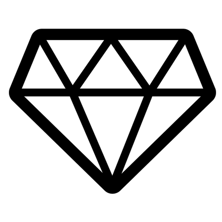 diamond jewelry luxury icon on white background vector illustration