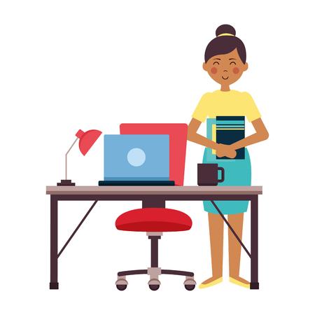 people office workplace vector illustration design image Ilustrace