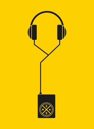 mp3 music player design, vector illustration