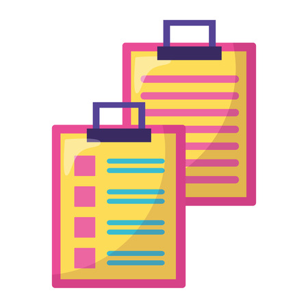 clipboards report check on white background icon vector illustration