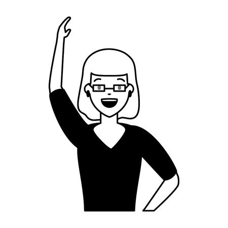 Frauencharakterporträt auf weißer Hintergrundvektorillustration