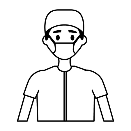 medical man practitioner character staff vector illustration
