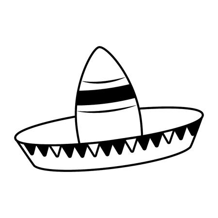 hat mexico cinco de mayo vector illustration
