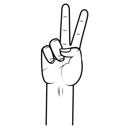 hand peace and love gesture vector illustration