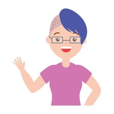woman character lgbt pride vector illustration design Illustration