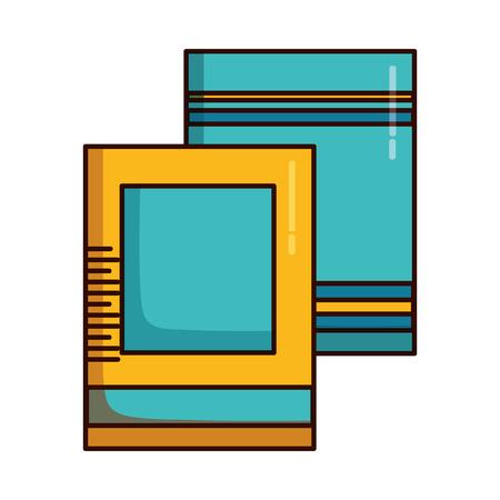 books school supplies on white background vector illustration design