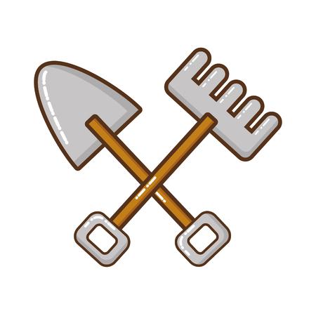 gardening tools isolated icon vector illustration design Ilustração