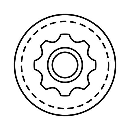 gear setting isolated icon vector illustration design Ilustracja