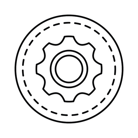 gear setting isolated icon vector illustration design Illustration