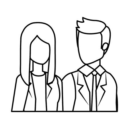 business couple avatars characters vector illustration design Иллюстрация
