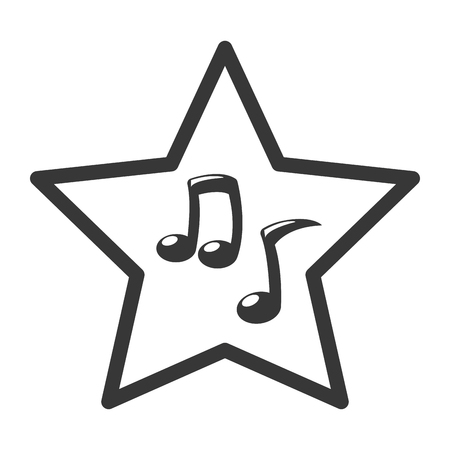 note musical icon on white background vector illustration Ilustração
