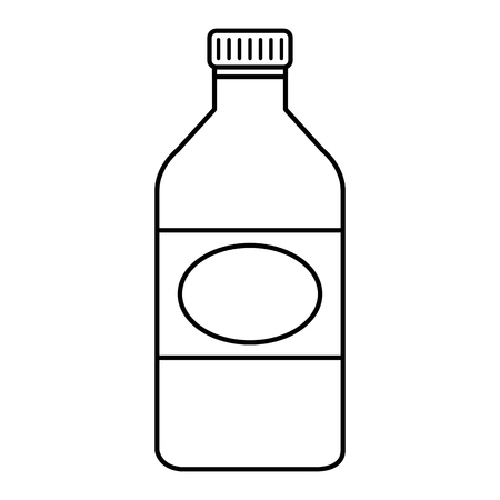 bottle glass isolated icon vector illustration design Illustration