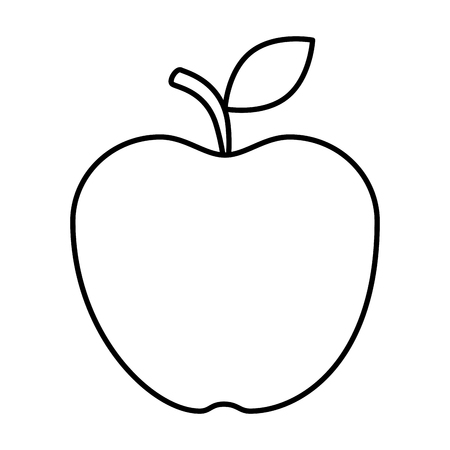 fresh apple healthy icon vector illustration design