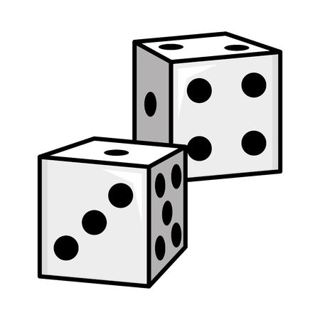 juego dados ilustración de vector de elemento de arte pop Ilustración de vector