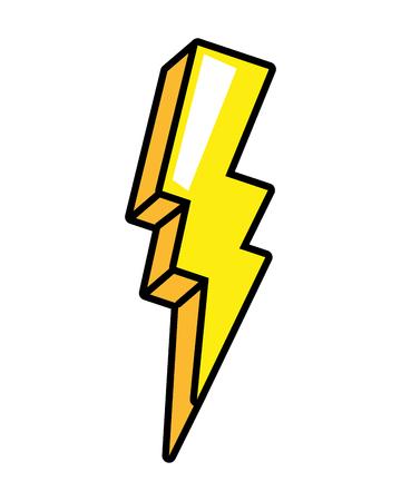 Ilustración de vector de elemento de arte pop de energía de rayo