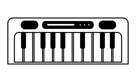 synthesizer kids toys on white background vector illustration 向量圖像