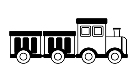 train wagons kids toys on white background vector illustration 写真素材 - 122867459