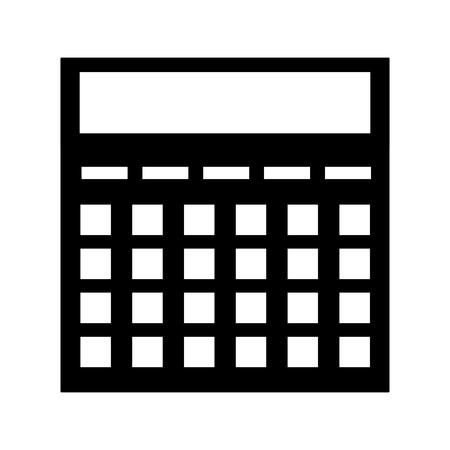 calculator financial economy device icon vector illustration Foto de archivo - 122879469