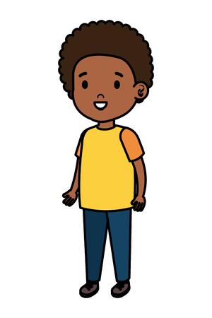 kleiner afrikanischer Junge Kind Charakter Vektor Illustration Design