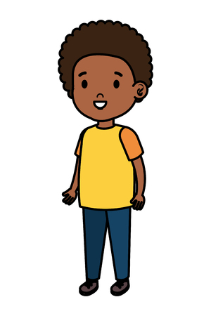 little african boy kid character vector illustration design Illustration