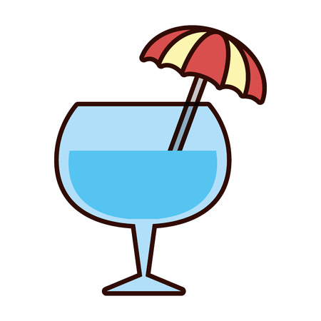 cocktail drink liquor umbrella icon vector illustration 写真素材 - 122982448