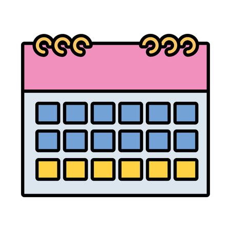 calendar reminder plan on white background vector illustration vector illustration Illustration