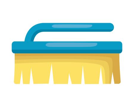 brush tool cleaning on white background vector illustration Ilustração
