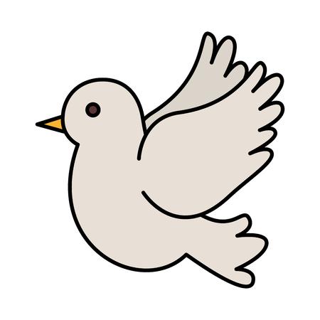 süße Taube fliegen Symbol Vektor Illustration Design