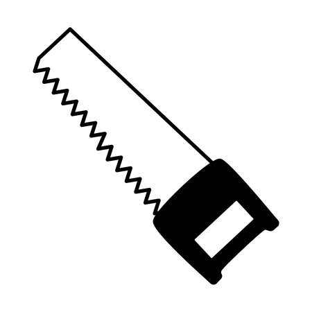 saw construction tool icon on white background vector illustration Illustration