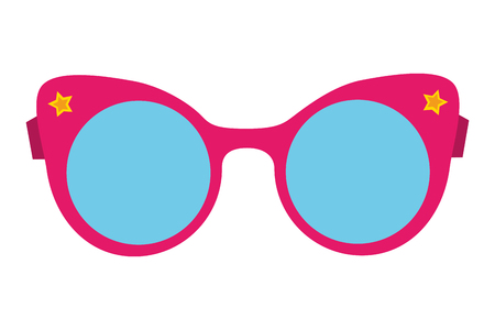 female eyeglasses fashion on white background vector illustration