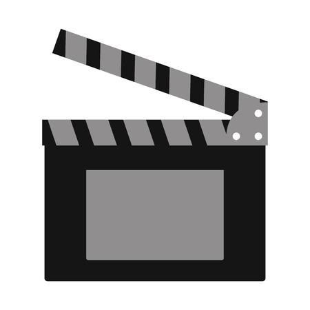 clapboard production cinema movie vector illustration design Vektorové ilustrace