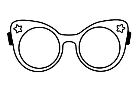 Moda de anteojos femeninos en la ilustración de vector de fondo blanco