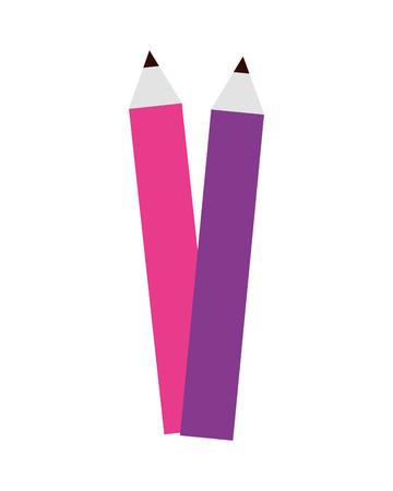 color pencils school on white background vector illustration design Illustration