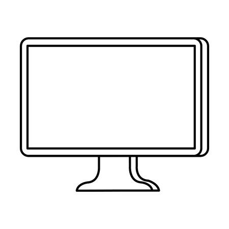 desktop computer isolated icon vector illustration design