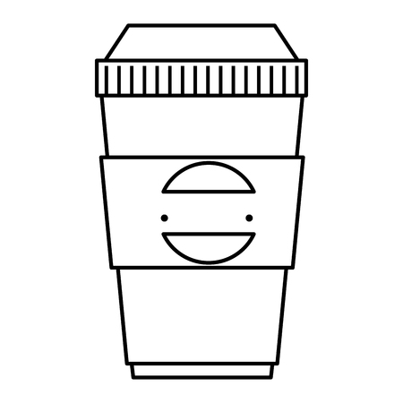 plastic container with company emblem vector illustration design Ilustrace