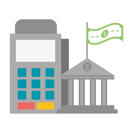 pos terminal bank money online payment vector illustration 向量圖像