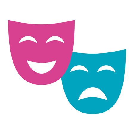 theater mask comedy drama on white background vector illustration Illusztráció