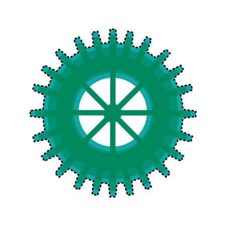 gears machine isolated icon vector illustration design Zdjęcie Seryjne - 123032045