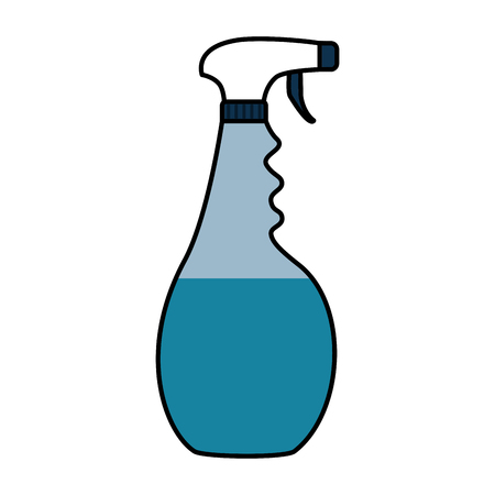 spray detergent tool cleaning on white background vector illustration