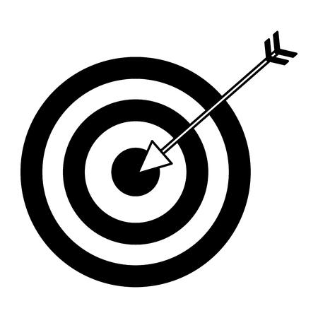 Zielpfeilstrategie auf weißer Hintergrundvektorillustration Vektorgrafik