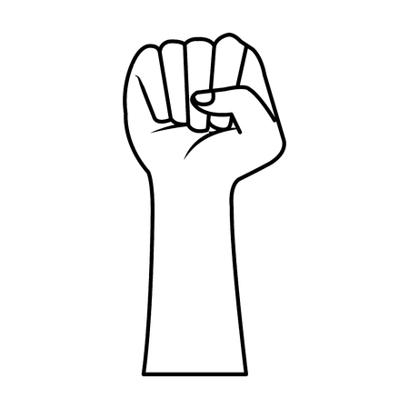 hand human fist icon vector illustration design Stock Illustratie