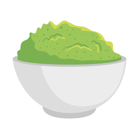 delicious guacamole sauce icon vector illustration design Illustration