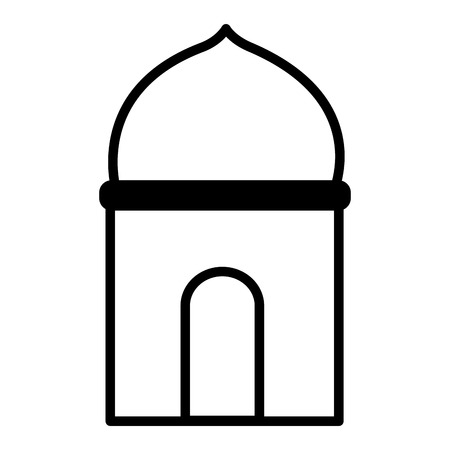 temple dome architecture culture on white background vector illustration Ilustrace